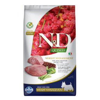 PSI - N&D Quinoa DOG Weight Mnmgnt Lamb &Broccoli Mini 2,5kg