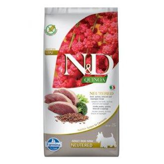 PSI - N&D Quinoa DOG Neutered Mini Duck&Broccoli&Asparag 7kg