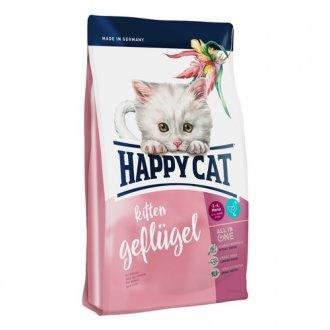 KOČKY - AKCE - Happy Cat Kitten Geflügel / Drůbež 1,4 kg