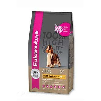 PSI - Eukanuba Dog Adult Lamb&Rice Small&Medium 1kg