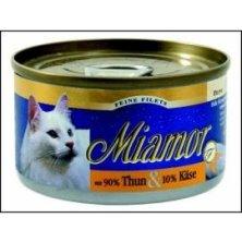 Miamor Cat Filet konzerva tuňák+sýr 100g