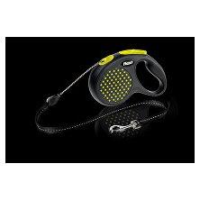 Vodítko FLEXI Design M lanko 5m žlutá