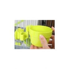 Miska plastová na mřížku klece zelená 9,5cm Zolux