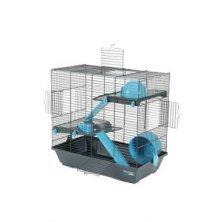 Klec křeček INDOOR 50cm 2 patra modrá s výbavou Zolux