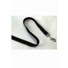 Vodítko DINOFASHION reflexní černé 160/2,5cm
