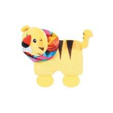 Hračka pes SQUARE TIGER plyš žlutá 21,5cm Zolux