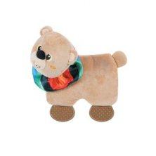 Hračka pes SQUARE BEAR plyš hnědá 21,5cm Zolux