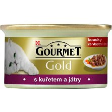 Gourmet Gold konz. kočka k.masa kuře,játra 85g