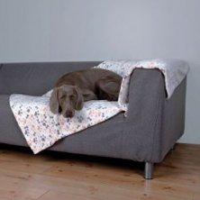 Deka pro psy LINGO bílo/béžová 100x150cm TR