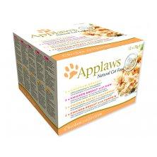 Konzervy APPLAWS Cat Chicken Selection multipack 12 x 70 g (840g)