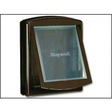 Dvířka STAYWELL hnědá s transparentním flapem 775