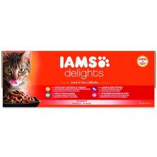 Kapsičky IAMS Cat výběr z mořských a suchozemských mas v omáčce multipack (4080g)