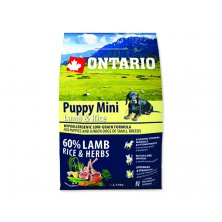 ONTARIO Puppy Mini Lamb & Rice (2,25kg)