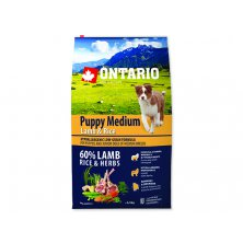 ONTARIO Puppy Medium Lamb & Rice (6,5kg)