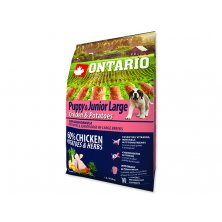 ONTARIO Puppy & Junior Large Chicken & Potatoes & Herbs (2,25kg)