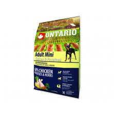 ONTARIO Dog Adult Mini Chicken & Potatoes & Herbs (2,25kg)