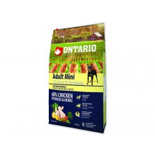 ONTARIO Dog Adult Mini Chicken & Potatoes & Herbs (6,5kg)