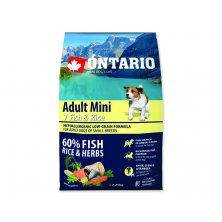 ONTARIO Dog Adult Mini Fish & Rice (2,25kg)
