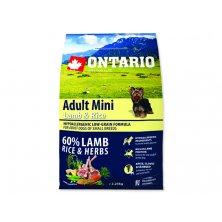 ONTARIO Dog Adult Mini Lamb & Rice (2,25kg)