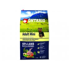 ONTARIO Dog Adult Mini Lamb & Rice (6,5kg)