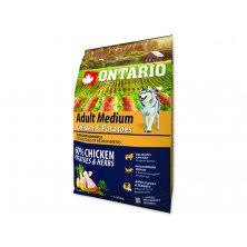 ONTARIO Dog Adult Medium Chicken & Potatoes & Herbs (2,25kg)
