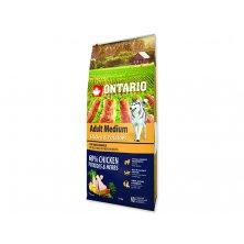 ONTARIO Dog Adult Medium Chicken & Potatoes & Herbs (12kg)