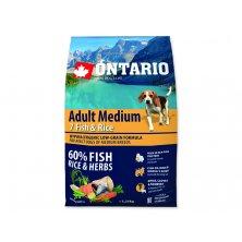 ONTARIO Dog Adult Medium Fish & Rice (2,25kg)