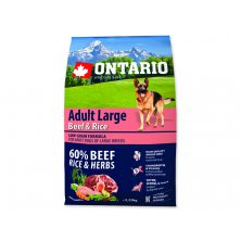 ONTARIO Dog Adult Large Beef & Rice (2,25kg)