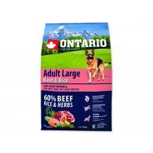ONTARIO Dog Adult Large Beef & Rice (2,25kg)