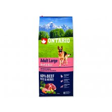 ONTARIO Dog Adult Large Beef & Rice (12kg)