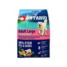 ONTARIO Dog Adult Large Fish & Rice (2,25kg)
