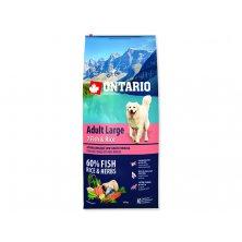 ONTARIO Dog Adult Large Fish & Rice (12kg)