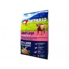 ONTARIO Dog Adult Large Lamb & Rice & Turkey (2,25kg)