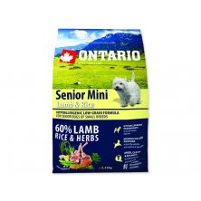 ONTARIO Senior Mini Lamb & Rice (2,25kg)