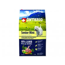 ONTARIO Senior Mini Lamb & Rice (6,5kg)