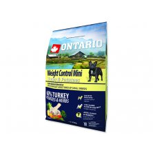 ONTARIO Dog Mini Weight Control Turkey & Potatoes (2,25kg)