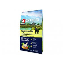 ONTARIO Dog Mini Weight Control Turkey & Potatoes (6,5kg)