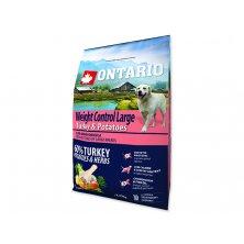 ONTARIO Dog Large Weight Control Turkey & Potatoes & Herbs (2,25kg)