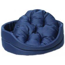+Pelíšek DOG FANTASY ovál s polštářem tmavě modrý 54 cm