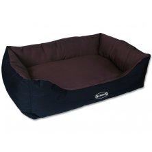 Pelíšek SCRUFFS Expedition Box Bed čokoládový XL