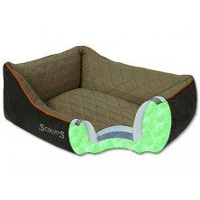 Pelíšek SCRUFFS Thermal Box Bed hnědý XL