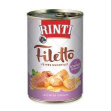 Rinti Dog Filetto konzerva kuře+šunka ve šťávě 420g
