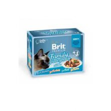 Brit Premium Cat D Fillets in Gravy Family Plate 340g