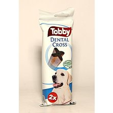 Pochoutka dentální TOBBY DENTAL CROSS L 100g 2ks