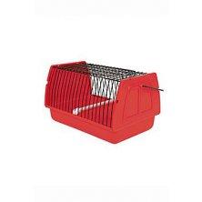 Přepravka pro ptáky 22x14x15cm plast červená TR 1ks