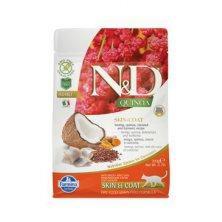 N&D GF Quinoa CAT Skin&Coat Herring & Coconut 300g