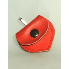 Adresář kožené srdíčko červené 55/50mm 1ks