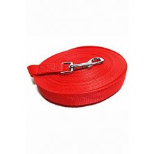 Vodítko DINOFASHION stopovací ploché červené 15m/2cm