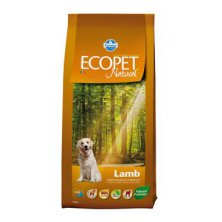 Ecopet Natural Adult Lamb 12kg+2kg ZDARMA