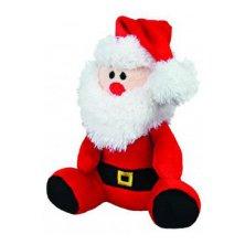 Vánoční Hračka pes Santa se šálou plyš 20cm TR 1ks